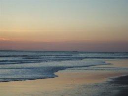 Gentle waves on Cadiz bay