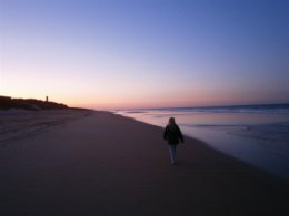 Morning walks on Barrosa beach