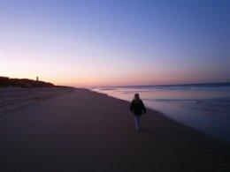Morning walks on Barrosa beach