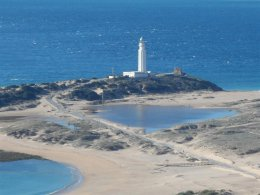 Light house on the bay of Cadiz